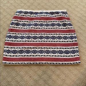 Madewell Jacquard Gamine Mini Skirt Size 8